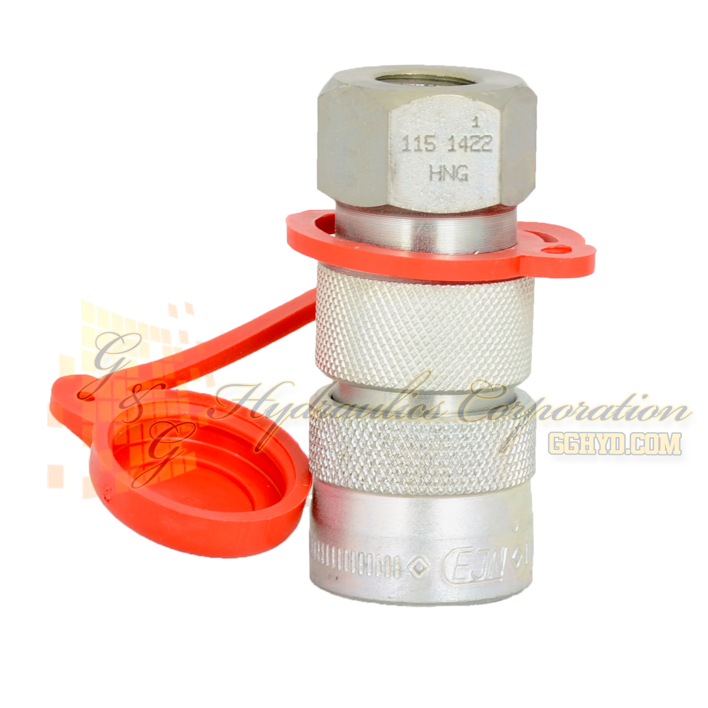 "10-115-1222 CEJN Quick Disconnect Coupler, 1/4"" BSPP Female Threads w/ Locking Ring, 14,500 PSI (1000 bar)"