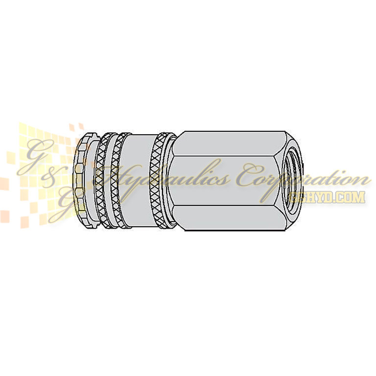 "10-220-1404 CEJN Quick Disconnect Coupling, 3/8"" FeMale Thread NPT Connection, 507 PSI (35 bar)"