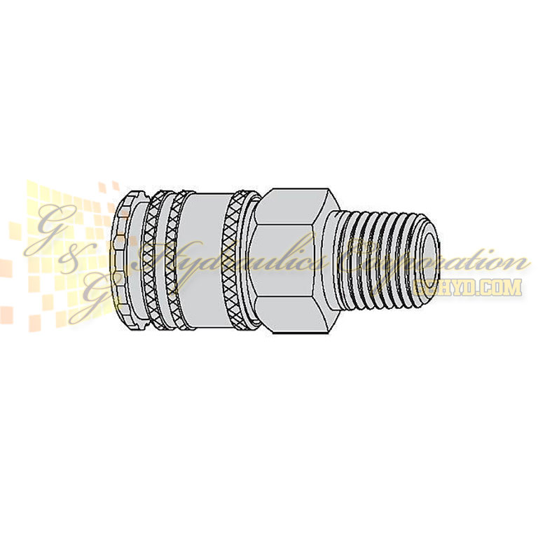 "10-220-1454 CEJN Quick Disconnect Coupling, 3/8"" Male Thread NPT Connection, 507 PSI (35 bar)"