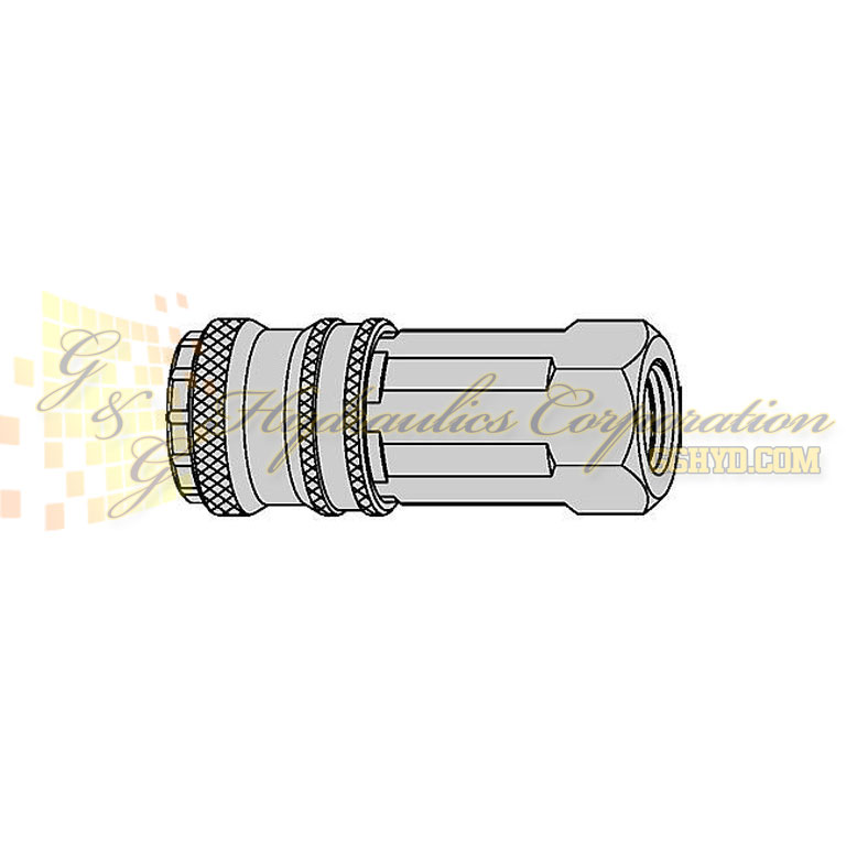 "10-300-2404 CEJN Quick Disconnect eSafe Coupling, 3/8"" Female Thread NPT Connection, 232 PSI (16 bar)"