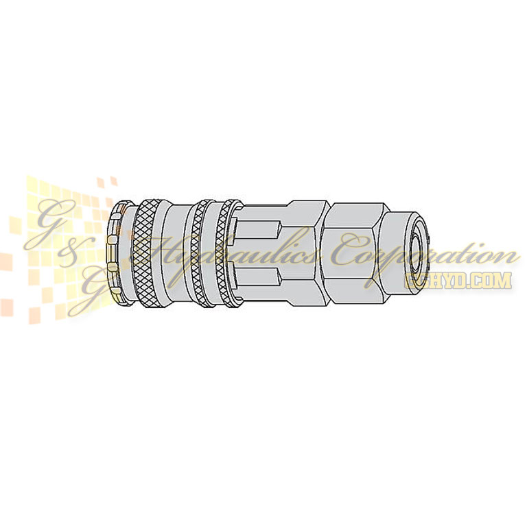 10-310-1060 CEJN Quick Disconnect Coupler, 6.5x10 mm Sream-Line connection, 232 PSI (16 bar)