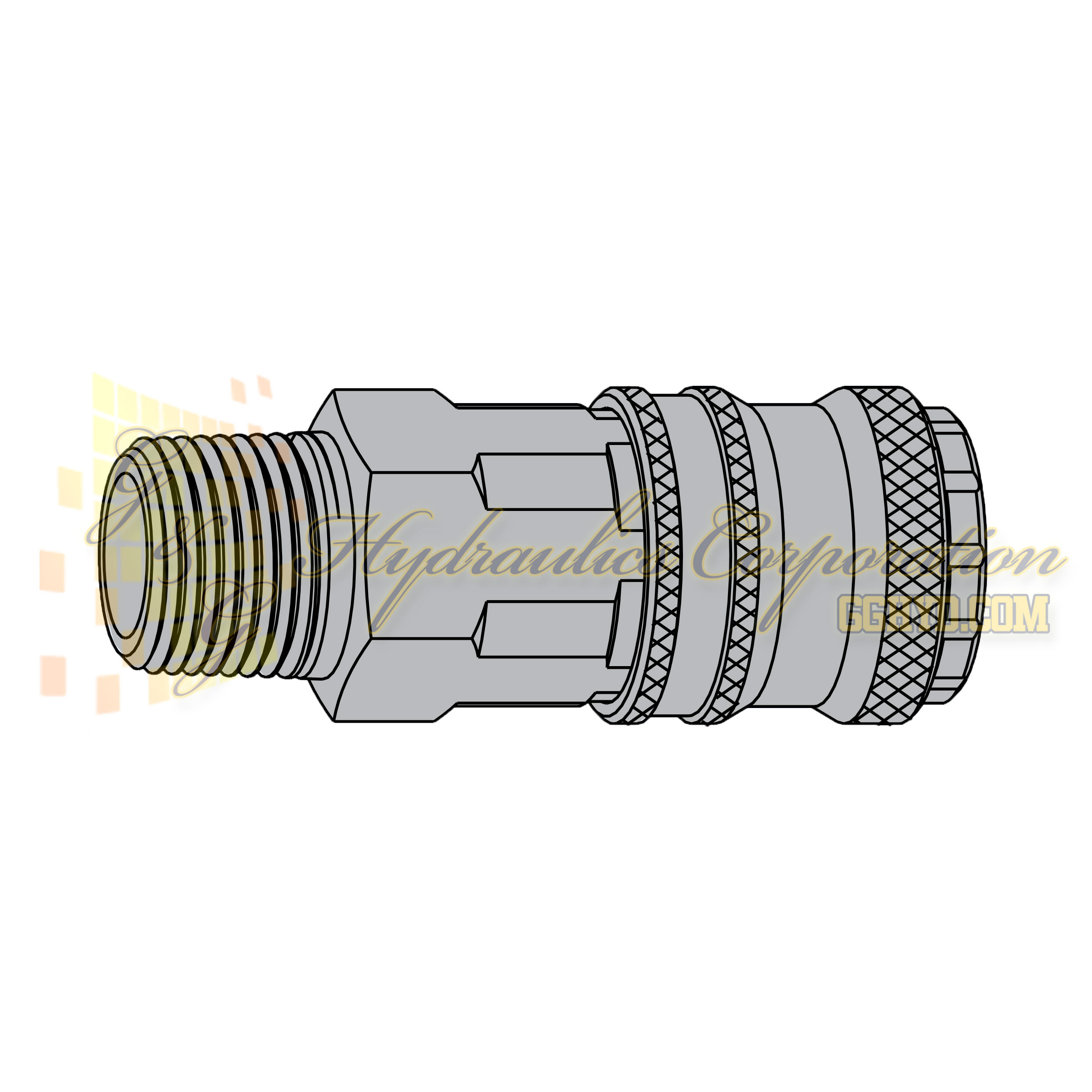 "10-310-2452 CEJN Quick Disconnect eSafe Vented Safety Coupler, 1/4"" NPT Male Thread, 232 PSI (16 bar)"