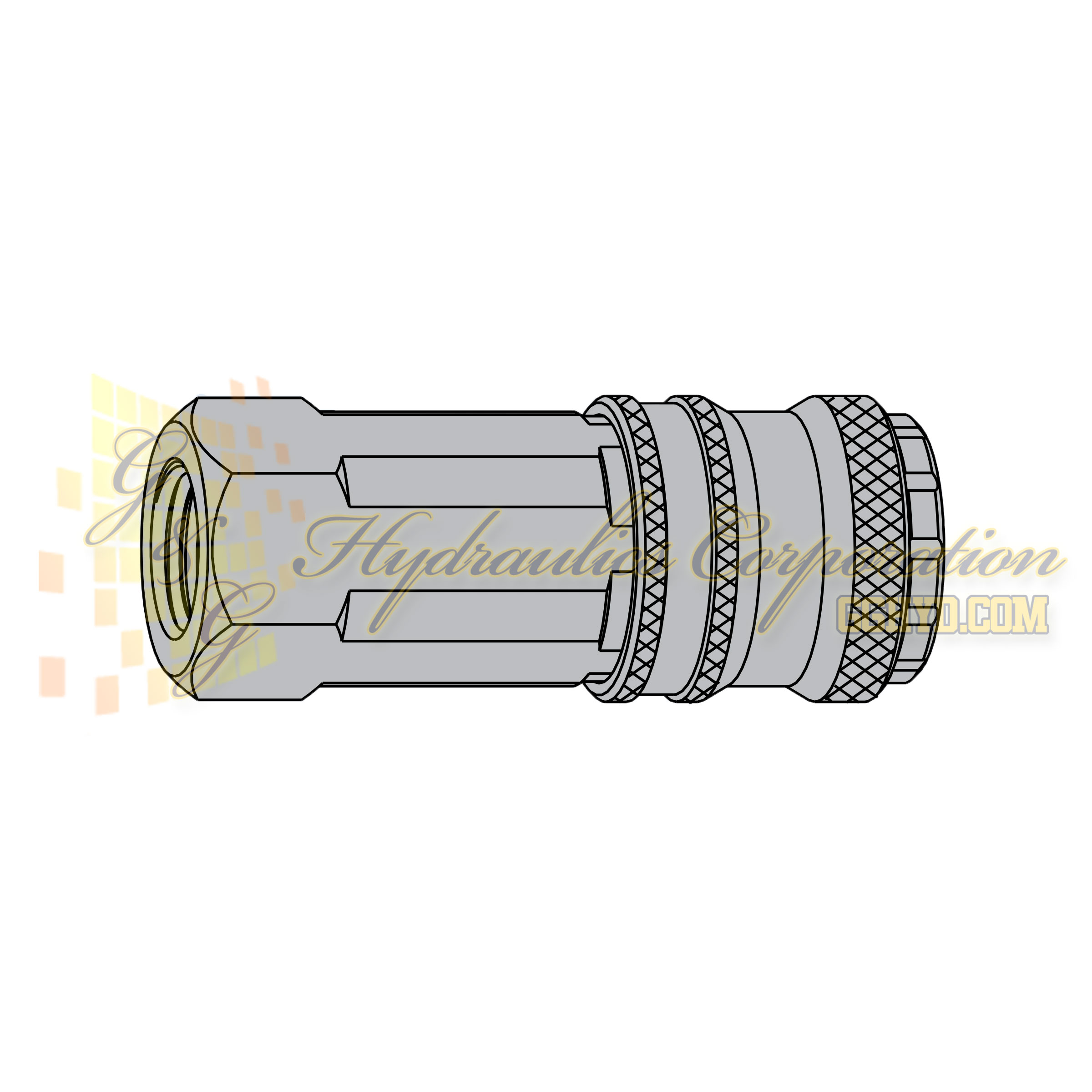 "10-310-2202 CEJN Quick Disconnect eSafe Vented Safety Coupler, 1/4"" BSPP Female Thread, 232 PSI (16 bar)"