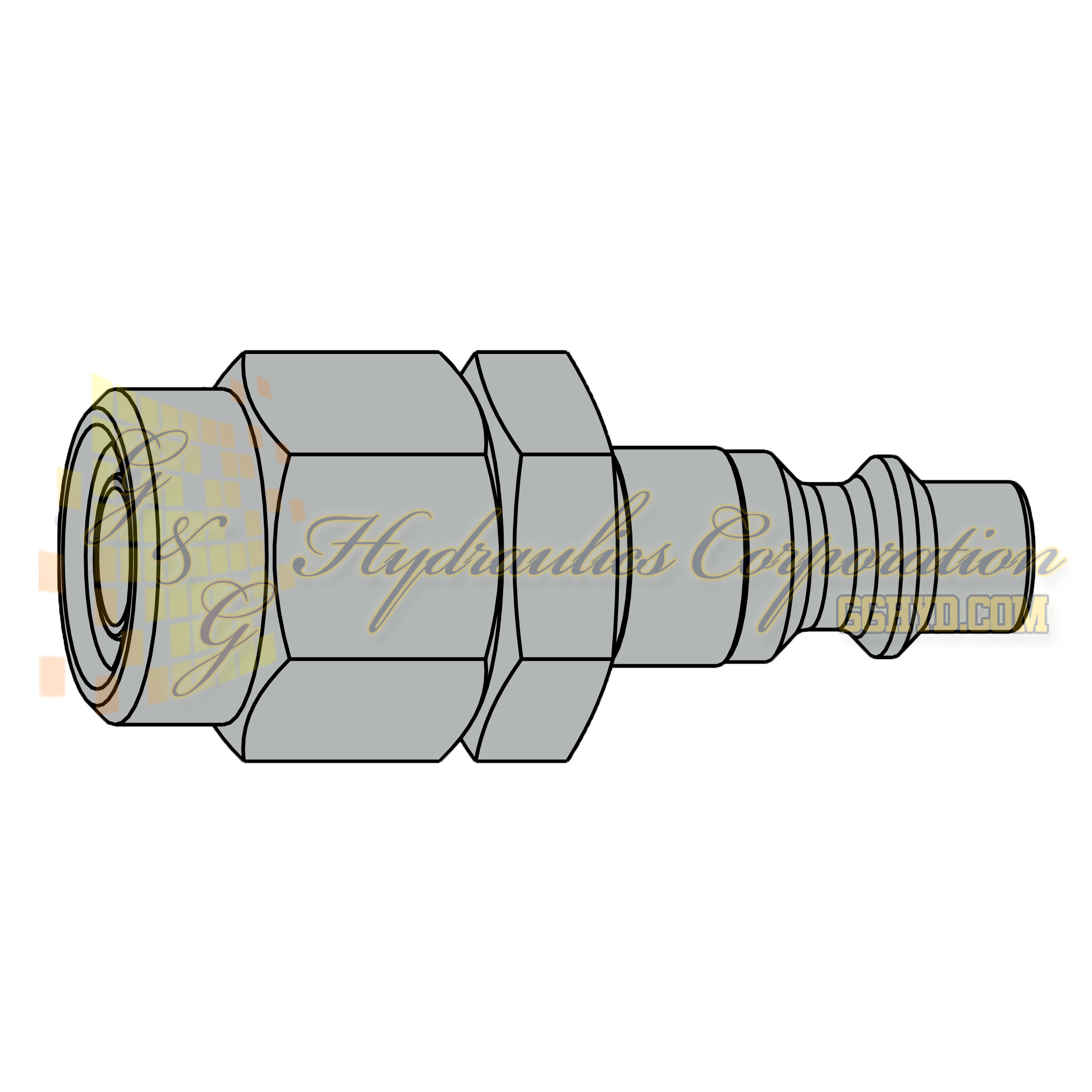 10-310-5066 CEJN Quick Disconnect Nipple, 11x16 mm Stream-Line connection, 232 PSI (16 bar)