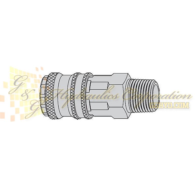 "10-315-1152 CEJN Quick Disconnect Coupler, 1/4"" Male BSPT Connection, 232 PSI (16 bar)"