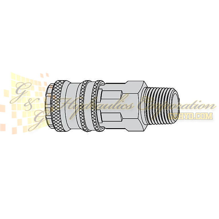 "10-315-2152 CEJN Quick Disconnect eSafe Coupler, 1/4"" Male Thread Connection, 232 PSI (16 bar)"
