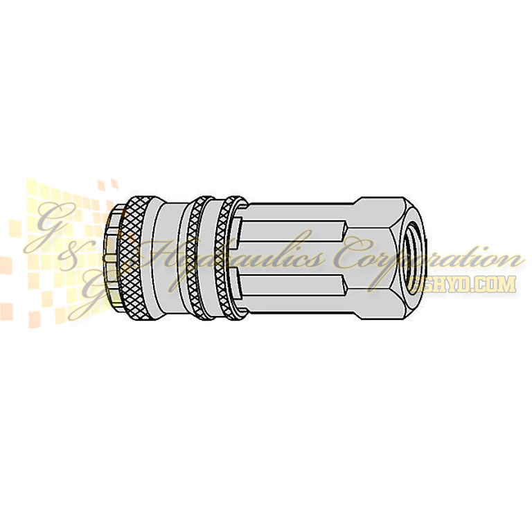"10-315-2405 CEJN Quick Disconnect eSafe Coupler, 1/2"" Female Thread Connection, 232 PSI (16 bar)"