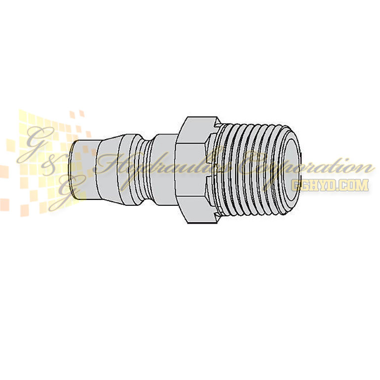 "10-315-5154  CEJN Quick Disconnect Nipple, 3/8"" Male BSPT Connection, 232 PSI (16 bar)"
