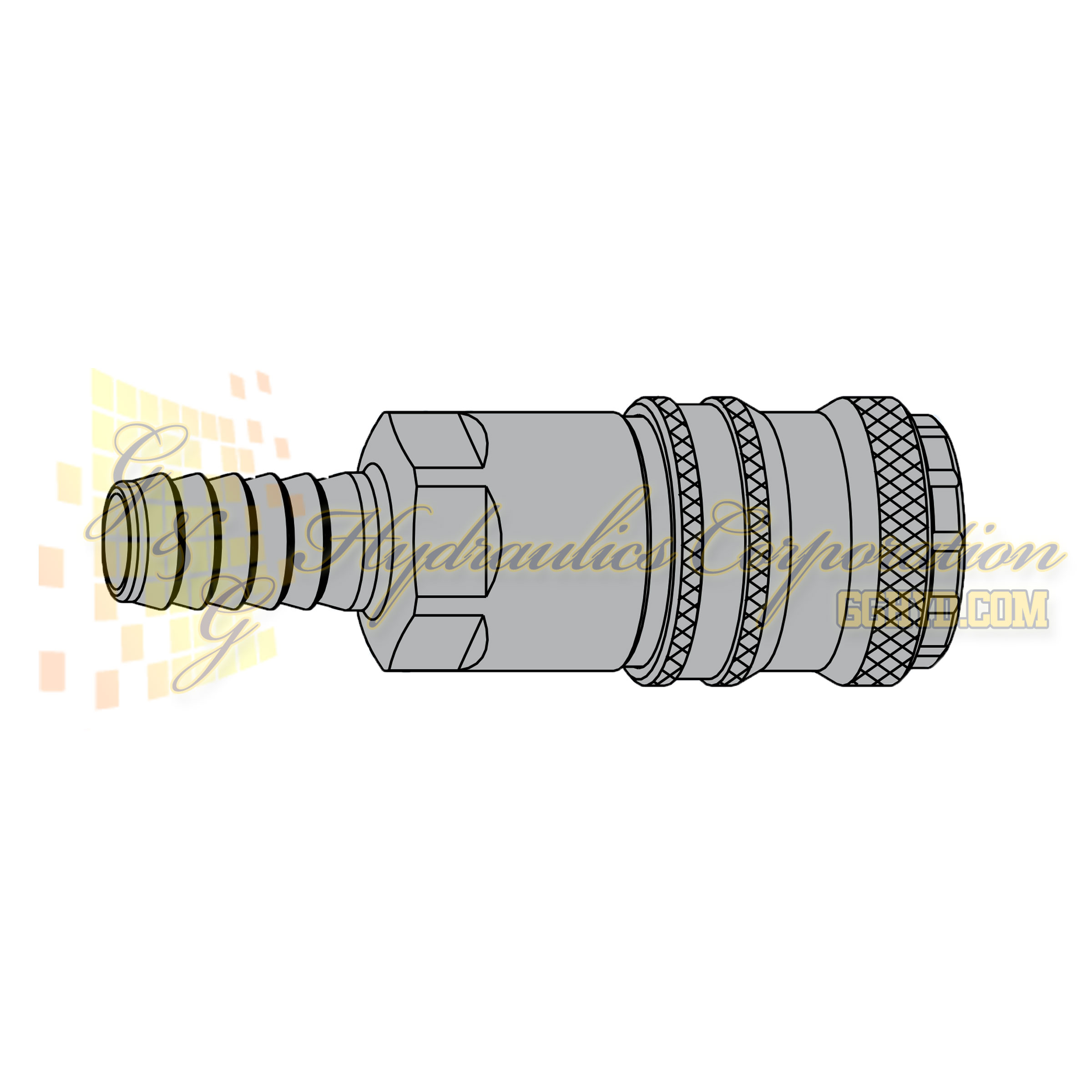 "10-320-1003 CEJN Standard and Vented Safety Coupler, 8mm (5/16"") Hose Connection"