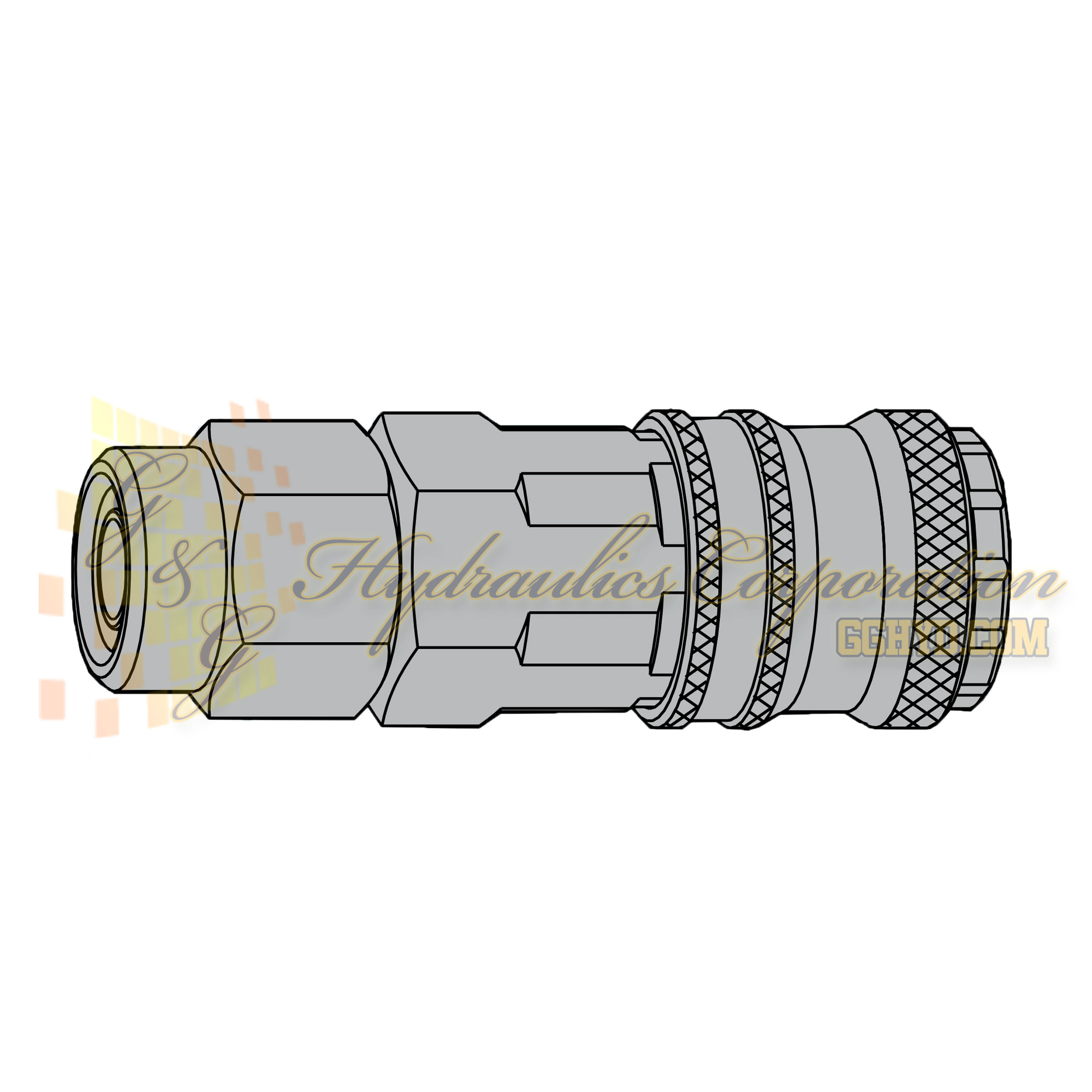 10-320-1405 CEJN Standard Coupler, 5x8mm Stream-Line connection