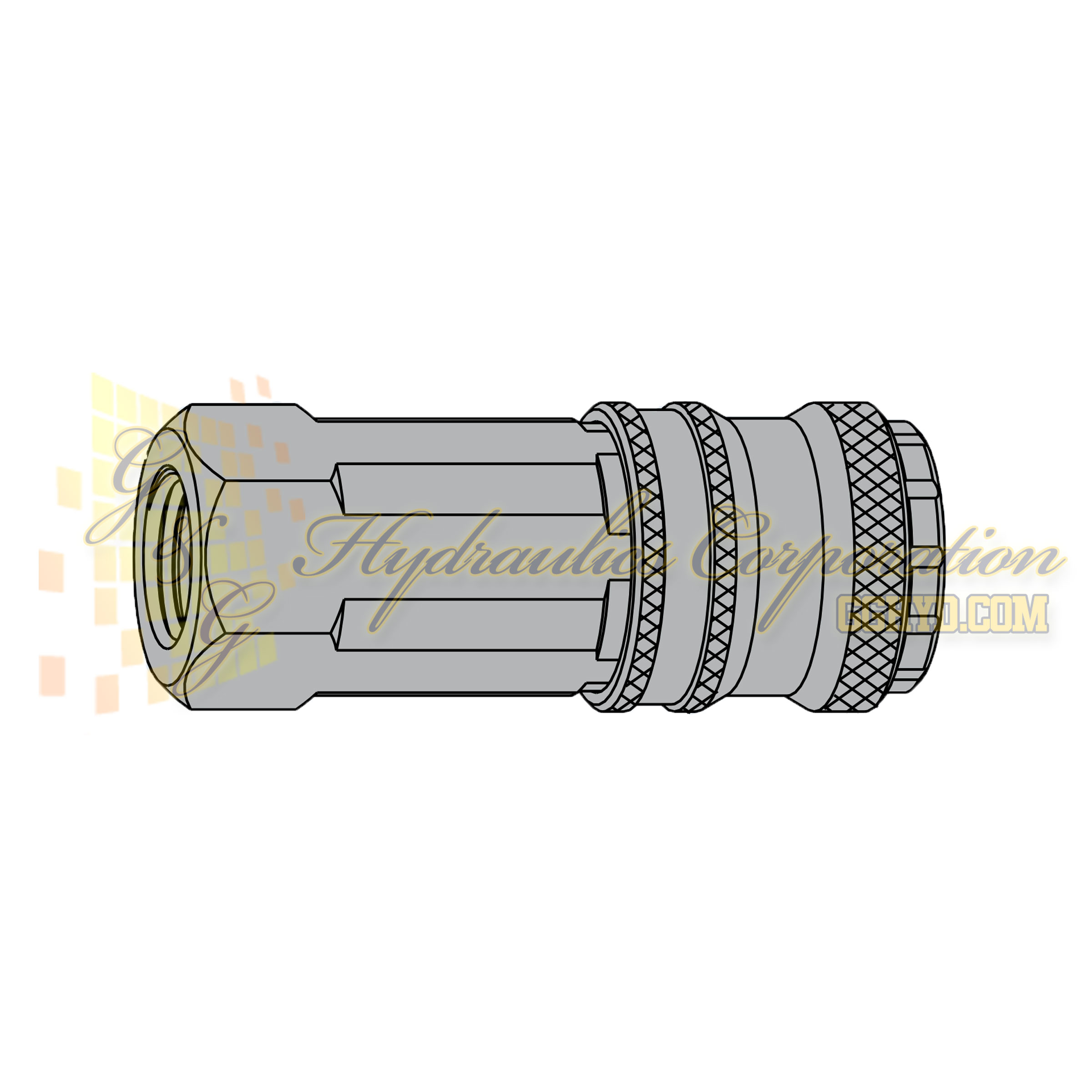 "10-320-1202 CEJN Standard and Vented Safety Coupler, 1/4"" BSPP Female Threads"