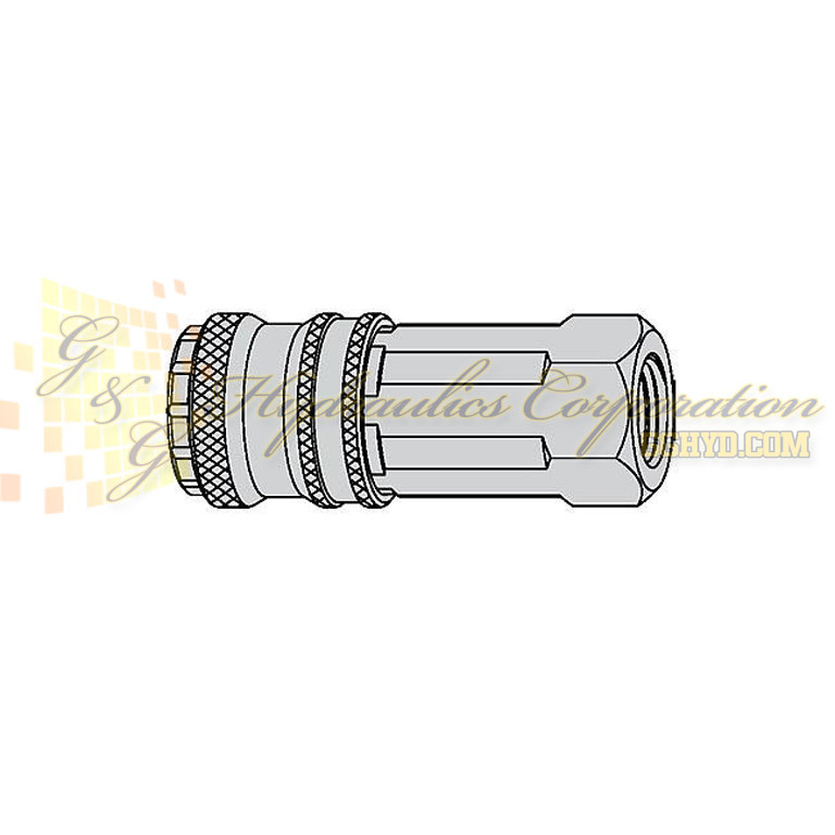 10-320-2405 CEJN Quick Disconnect eSafe Coupler, 퐫 NPT Female NBR+ Connection, 232 PSI (16 bar)