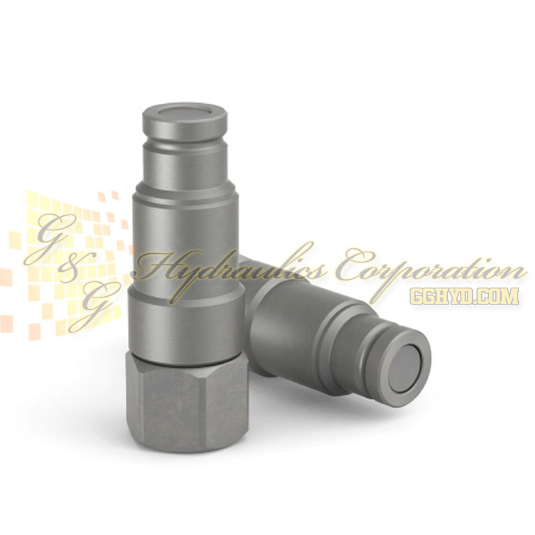 10-364-6404 CEJN Quick Disconnect Nipple 3/8 (DN10) ISO16028 FF -Press. Elim., 3/8 NPT Fem. Connection, NBR Seal