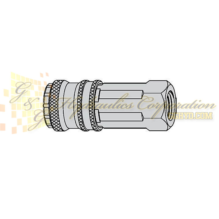 "10-410-2404 CEJN Quick Disconnect eSafe Coupler, 3/8"" Female Thread NPT Connection, 232 PSI (16 bar)"