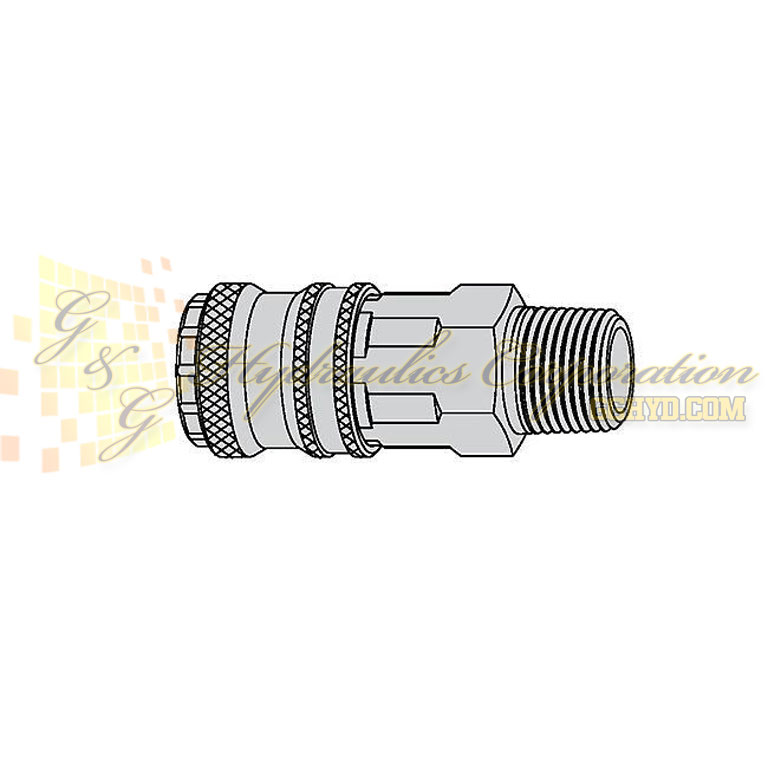 "10-410-2457 CEJN Quick Disconnect eSafe Coupler, 3/4"" Female Thread NPT Connection, 232 PSI (16 bar)"