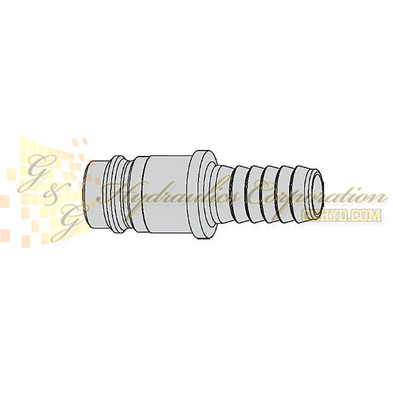 "10-410-5004 CEJN Quick Disconnect Nipple, 3/8"" Hose Barb Connection, 232 PSI (16 bar)"