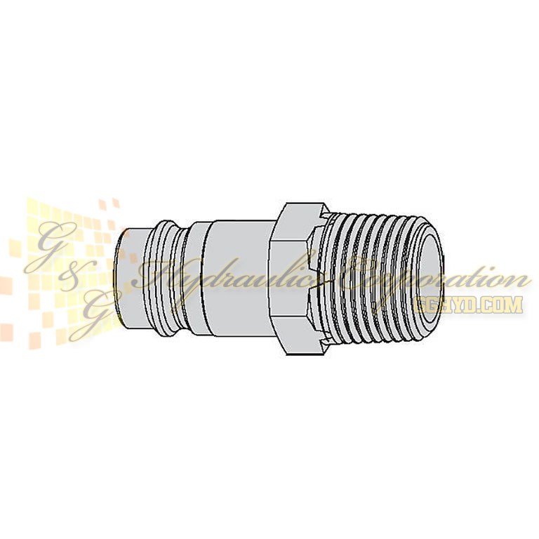 "10-410-5454 CEJN Quick Disconnect Nipple, 3/8"" Male NPT Connection, 232 PSI (16 bar)"