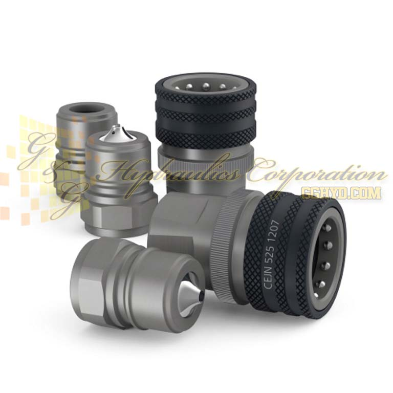 "10-525-1237 CEJN Series 525, DN20 Couplings With Pressure Eliminator Female Thread G 3/4"" Connection"