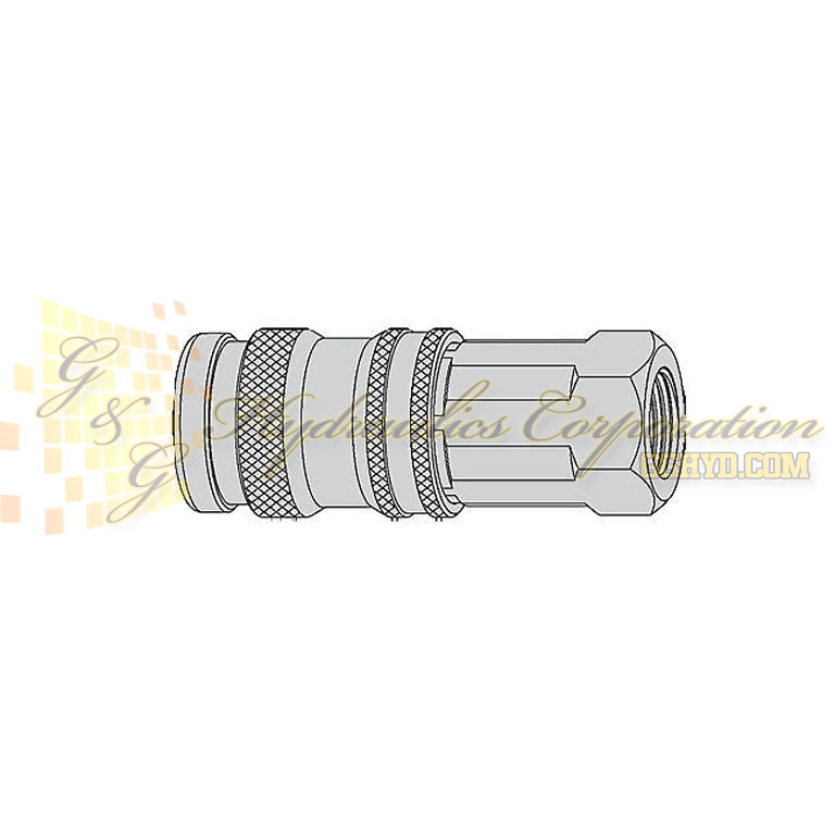 "10-550-1405 CEJN Quick Disconnect Coupling, 1/2"" Female NPT Connection, 232 PSI (16 bar)"