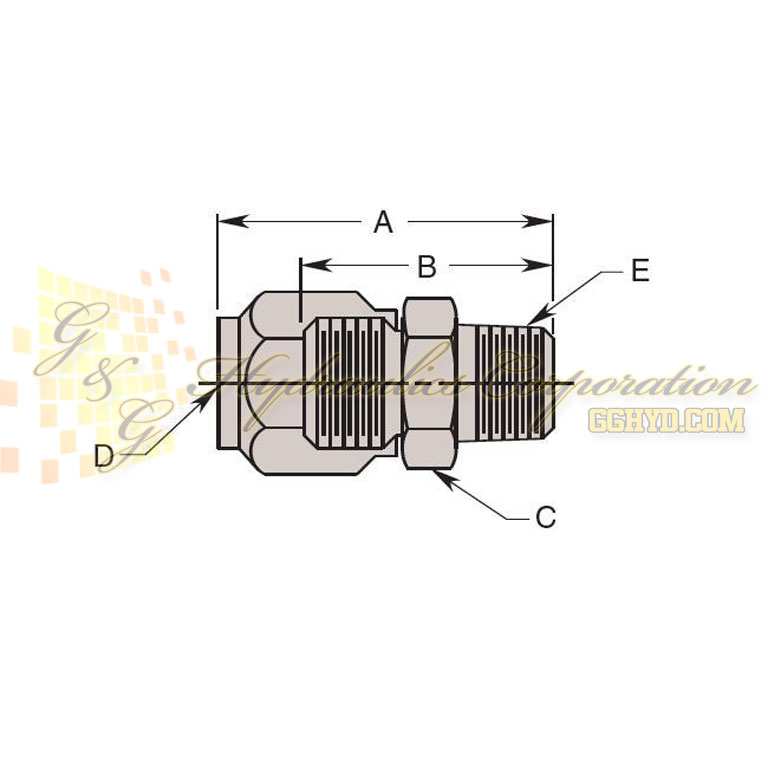 15061 Hytec Fitting, Male Connector UPC#662536045063