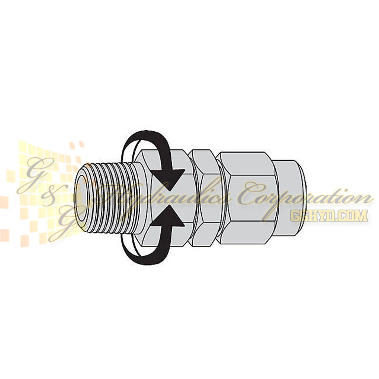 "19-958-1092 CEJN Stream-Line Hose Adapters 1/4"" (6.5x10 mm) to 1/4"" NPT with Swivel"