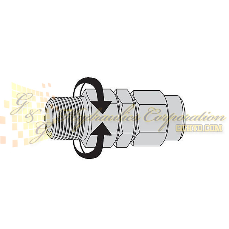 "19-958-1292 CEJN Stream-Line Hose Adapters 1/4"" Male NPT Connection For 5/16"" (8x12 mm)"