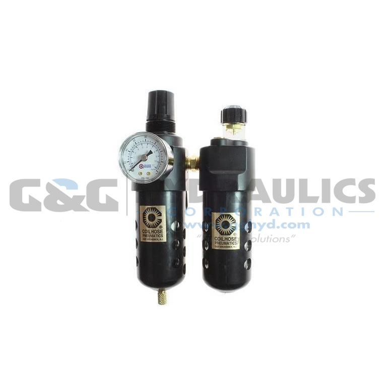 "26FCL3-G Coilhose 26 Series 3/8"" Integral F/R & Lubricator, Gauge UPC #029292492942"