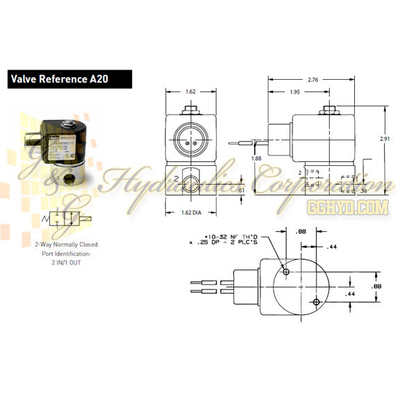 71215SN21N00N0H111P3 Parker Skinner 2-Way Normally Closed Direct Acting Stainless Steel Solenoid Valve 120/60-110/50V AC Hazardous Housing