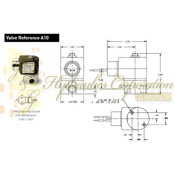 71215SN2QN00N0C322P3 Parker Skinner 2-Way Normally Closed Direct Acting Stainless Steel Solenoid Valve 120/60-110/50V AC Conduit Housing