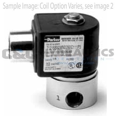 71216SN2BL00N0H322C1 Parker Skinner 2-Way Normally Closed Direct Acting High Pressure Stainless Steel Solenoid Valve 12V DC Hazardous Housing