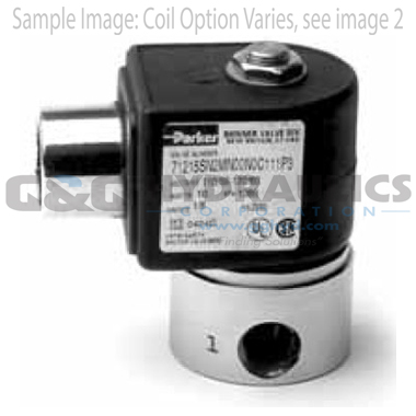 71216SN2FU00N0C111C1 Parker Skinner 2-Way Normally Closed Direct Acting High Pressure Stainless Steel Solenoid Valve 12V DC Conduit Housing-1