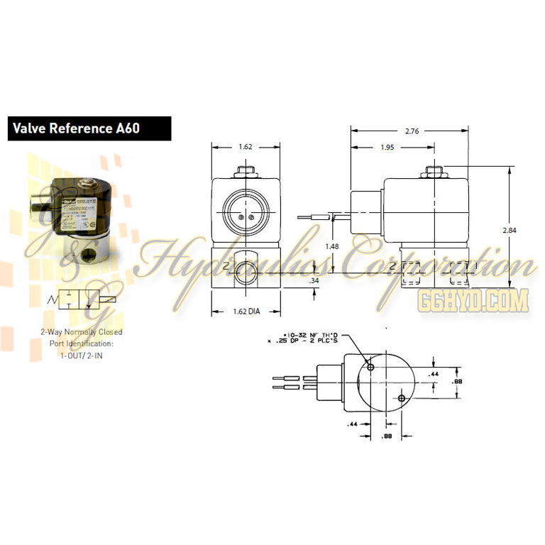 71216SN2FU00N0H111Q3 Parker Skinner 2-Way Normally Closed Direct Acting High Pressure Stainless Steel Solenoid Valve 240/60-220/50V AC Hazardous Housing