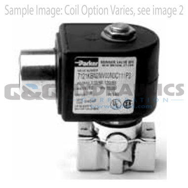 7121KBN2NF00N0D100C2 Parker Skinner 2-Way Normally Closed Direct Acting Brass Solenoid Valve 24V DC DIN Housing
