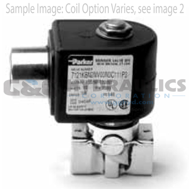 7121KBN2QV00N0C222C2 Parker Skinner 2-Way Normally Closed Direct Acting Brass Solenoid Valve 24V DC Conduit Housing