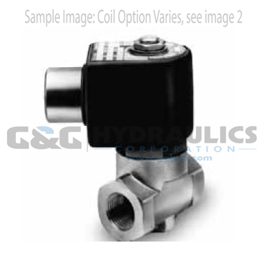 7121KBN44V00N0C111C1 Parker Skinner 2-Way Normally Closed Direct Acting Brass Solenoid Valve 12V DC Conduit Housing