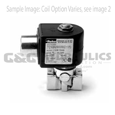 7122KBN2LF00N0C111C2 Parker Skinner 2-Way Normally Open Direct Acting Brass Solenoid Valve 24V DC Conduit Housing
