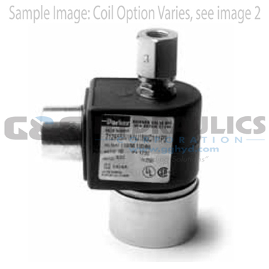 71295SN2KNJ1N0D100Q3 Parker Skinner 2-Way Normally Open Direct Acting Stainless Steel Solenoid Valve 240/60-220/50V AC DIN Housing
