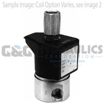 71315SN2MNJ1N0C111C1 Parker Skinner 3-Way Normally Closed Direct Acting Stainless Steel Solenoid Valve 12V DC Conduit Housing-1