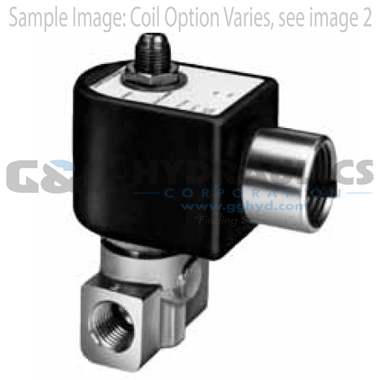 7131KBN2JV00N0D100P3 Parker Skinner 3-Way Normally Closed Direct Acting Brass Solenoid Valve 120/60-110/50V AC DIN Housing