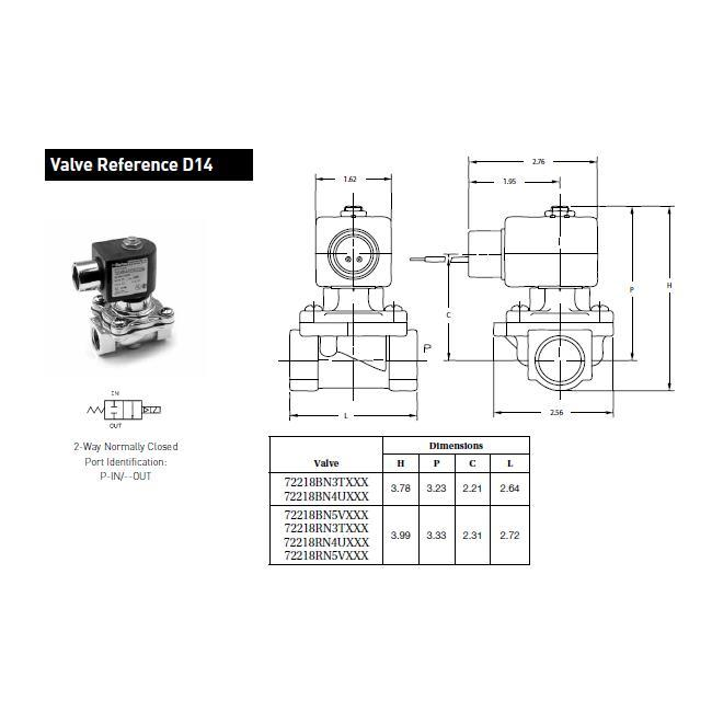 72218BN5VE00 Parker Skinner 2-Way Normally Closed Direct Acting Pressure Vessel - flow chart
