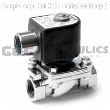 7221GBN4VN00N0D100Q3 Parker Skinner 2-Way Normally Closed Direct Lift Brass Solenoid Valve 240/60-220/50V AC DIN Housing