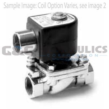 7221GBN64N00N0C111P3 Parker Skinner 2-Way Normally Closed Direct Lift Brass Solenoid Valve 120/60-110/50V AC Conduit Housing-1