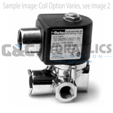 73212BN2MN00N0D100P3 Parker Skinner 2-Way Normally Closed Pilot Operated Internal Pilot Supply Brass Solenoid Valve 120/60-110/50V AC DIN Housing-1