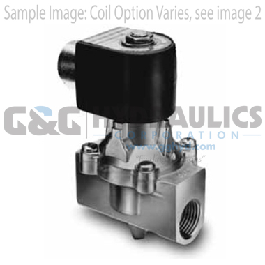 73212BN4TN00N0C222P3 Parker Skinner 2-Way Normally Closed Pilot Operated Internal Pilot Supply Brass Solenoid Valve 120/60-110/50V AC Conduit Housing-1
