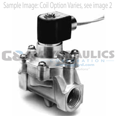 73212BN52N00N0C111C1 Parker Skinner 2-Way Normally Closed Internal Pilot Operated Brass Solenoid Valve 12V DC Conduit Housing