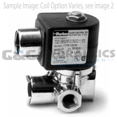 73216BN2MT00N0H322C2 Parker Skinner 2-Way Normally Closed Pilot Operated Internal Pilot Supply Brass Solenoid Valve 24V DC Hazardous Housing