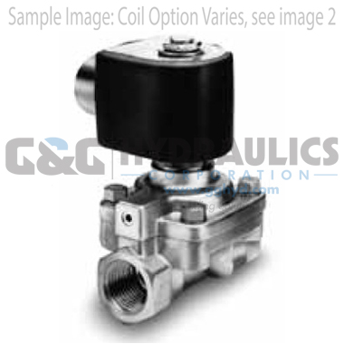 7321GBN99N00N0C111C1 Parker Skinner 2-Way Normally Closed Pilot Operated Internal Pilot Supply Brass Solenoid Valve 12V DC Conduit Housing-1