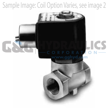 7321KBN2RN00N0C111C2 Parker Skinner 2-Way Normally Closed Pilot Operated Internal Pilot Supply Brass Solenoid Valve 24VDC Conduit Housing-1