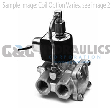 73312BN4UNJ0N0C111P3 Parker Skinner 3-Way Normally Closed Internally Pilot Operated Brass Solenoid Valve 120/60-110/50V AC Conduit Housing-1