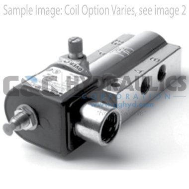 73419AN2NN00N0C111C1 Parker Skinner 4-Way 2 Position Single Aluminum Solenoid Valve 12V DC Conduit Housing-1